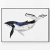 대형 메탈 동물 일러스트 그림 아트 포스터 액자 고래 ver2