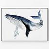 대형 메탈 동물 일러스트 그림 인테리어 포스터 액자 고래 ver3