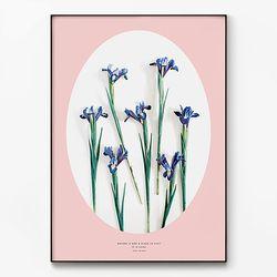 대형 메탈 보테니컬 식물 꽃 그림 인테리어 액자 아이리스