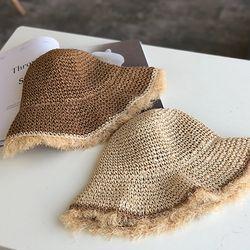 보슬햇 왕골모자 여름모자 비치모자 모자 밀짚모자