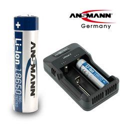 안스만 18650 충전 배터리 1개+멀티 USB 충전 거치대 SET