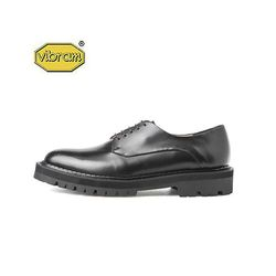 BLACK OVER SOLE PLAIN TOE DERBY BLACK