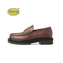 BLACK OVER SOLE PENNY LOAFERS BROWN