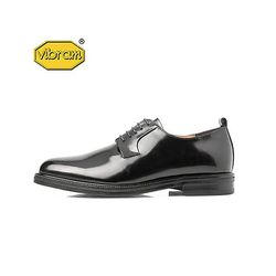 BLACK BOX PLAIN TOE DERBY BLACK