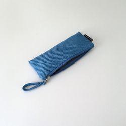 퀼팅 블루 필통(Quilting blue pencil case)