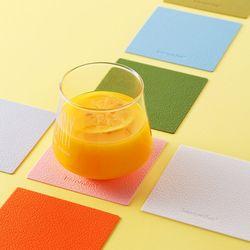 케라미카 실리콘 컵받침 티코스터 스퀘어4Pset(13color)