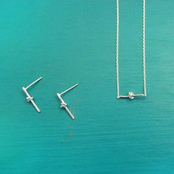 Silver Basic Rope Necklace (사랑의 매듭 네크리스)
