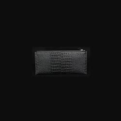 N플랫지퍼 장지갑 (블랙)