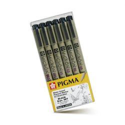 피그마 마이크론 드로잉펜 블랙세트 6본세트