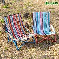 와이드 로우 캠핑의자