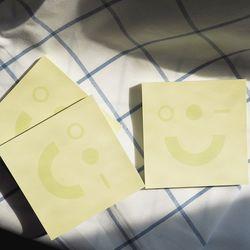 메모지 - Pockerface yellow - 포커페이스 옐로