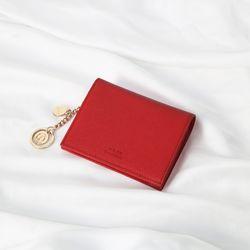 [별자리키링 ] Minette Half Wallet - Red