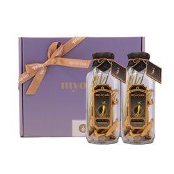 묘약 인삼 담금주키트2구선물세트(보자기포장 선택)-500ml X 2ea
