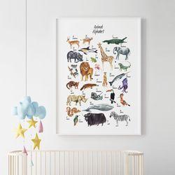 알파벳 동물 아이방 액자 인테리어 A3 포스터