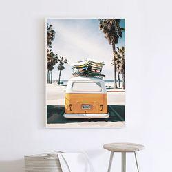 옐로우버스 여름 그림 인테리어 액자 A3 포스터