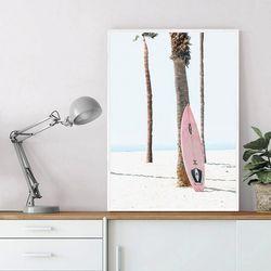 핑크보드 여름 그림 인테리어 액자 A3 포스터
