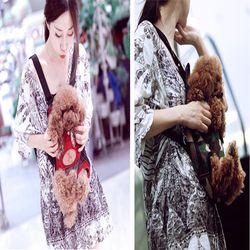 강아지 캥거루 가방 M