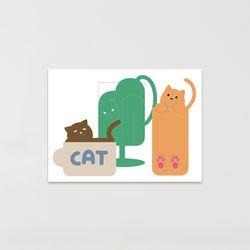 캣맨엽서-cup cat