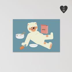 (유기견후원)독맨엽서-overeating