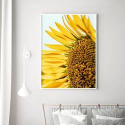 하프 해바라기 꽃 그림 액자 A3 포스터
