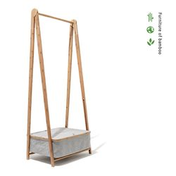 대나무 A 행거 Bamboo A-Shaped Garment Rack