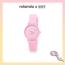 [OSTX로라로라] 로고 핑크 러버 젤리시계 OTC319723RPP