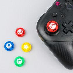마젠타 닌텐도 스위치 프로컨트롤러 마리오 스틱 커버