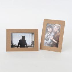 스탠딩 페이퍼프레임 - 4x6 크라프트 5매 (종이액자)