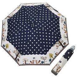 A0496 부엉이 네이비 3단자동우산
