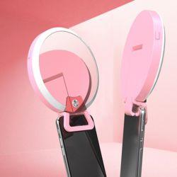 거울 LED 셀카 조명 링 라이트 수납 파우치 각도조절