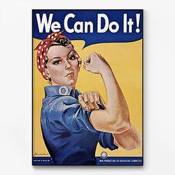대형 메탈 We can do it 그래픽 레터링 포스터 액자 빈티지 18