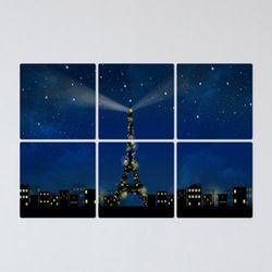 tb344-멀티액자에펠탑이보이는야경