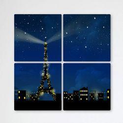 tb345-멀티액자에펠탑이보이는파리의야경
