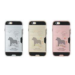 아이폰8플러스 Obli-SweetZebra 카드 범퍼 케이스