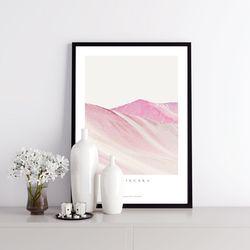 비니쿤카 핑크 마운틴 아트포스터