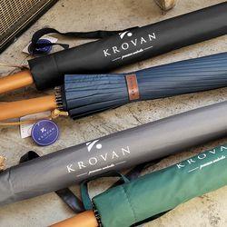 크로반 튼튼한 프리미엄 장우산 우드그립 KR1