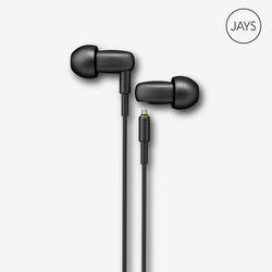 [유선이어폰+에코백선착순증정] 제이스 큐제이스 이어폰 블랙 Jays q-jays Black