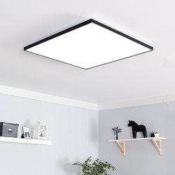 LED 스퀘어 초슬림 거실등 일체형 110W (화이트 블랙)