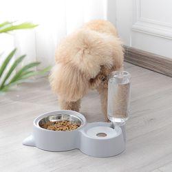 봉봉펫닷컴 고양이 강아지 이중 급식기 급수기