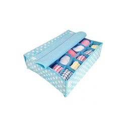 키친아트 속옷정리함 땡땡이 블루(덮개20칸)