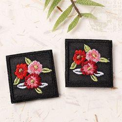 전통자수삼색꽃(1개)와펜전통만들기