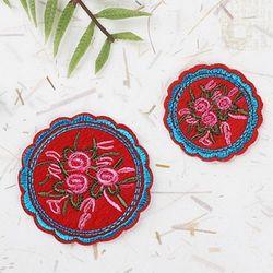 전통자수빨강꽃밭(1개)와펜전통만들기