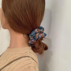 체크 곱창끈 헤어 머리끈 3color