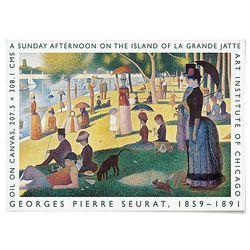 중형 패브릭 포스터 F318 명화 풍경 그림 액자 조르주 쇠라 C