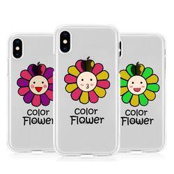 [T]안녕플라워 투명 젤리 케이스.아이폰7(8)플러스공용