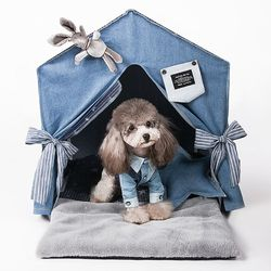 펫데일리 강아지 고양이 호텔 하우스 시리즈 - 레빗 홀 호텔