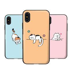 [T]뚱냥이 도어범퍼 케이스.아이폰6(s)