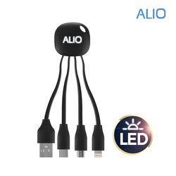 알리오 메두사 LED 3in1 멀티 충전케이블