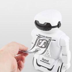 어린이 로봇 저금통 금고 탁상용 조명 디자인 소품