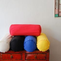 색종이 원통형 쿠션 기본솜 포함 (레드.옐로.블루.블랙.베이지)